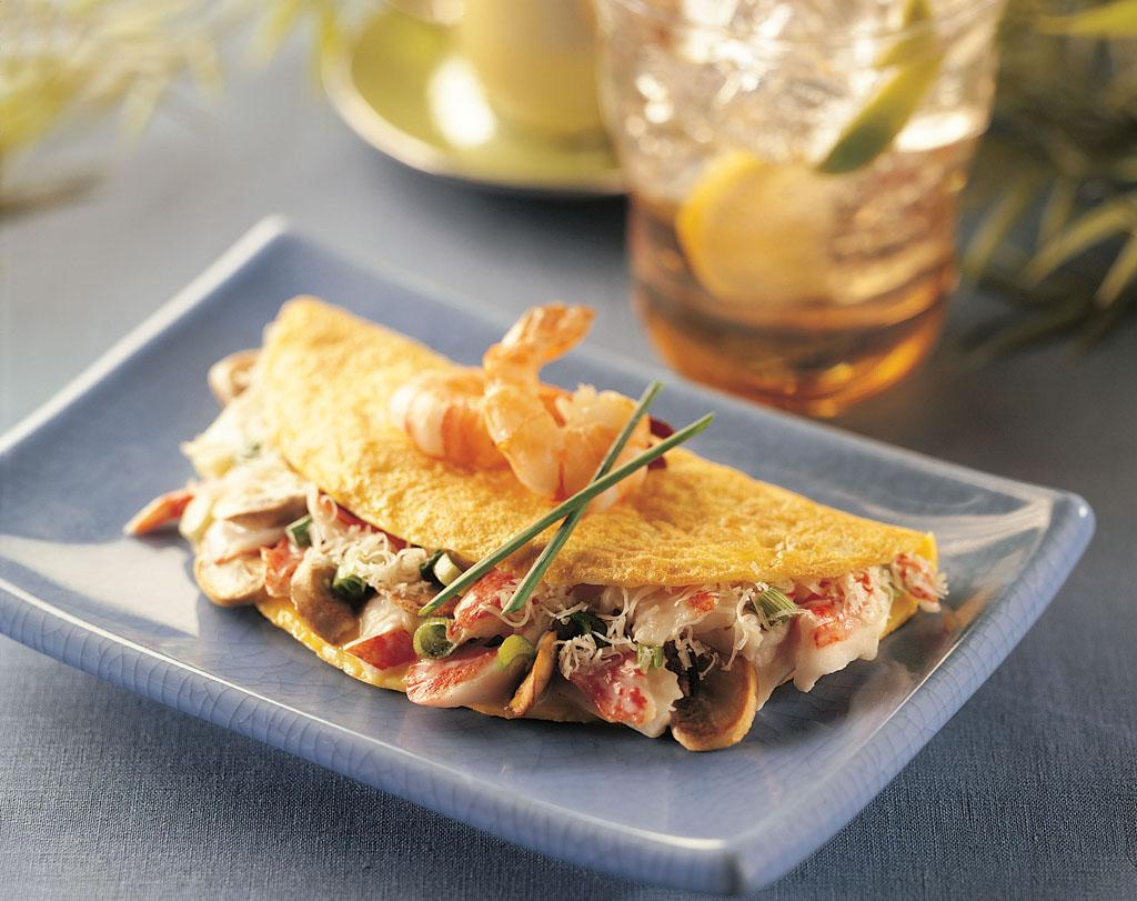Omelette aux fruits de mer - Tagliatelles aux fruits de mer recette italienne ...